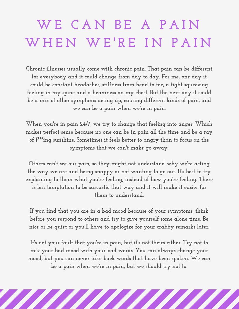We Can Be A Pain
